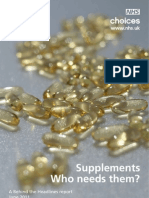 Should you use supplements? A report by the NHS UK.