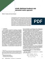 analysis of almost periodic distributed feedback slab waveguides via a fundamental matrix method