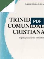 Pikaza Xabier Trinidad y Comunidad Cristiana