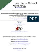 Adolescent Adolescence and Suicide