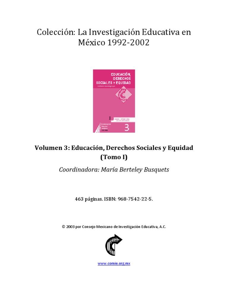 ColecciónLa Investigación Educativa en México-1992-2002-03 t1 a1adda75a11f