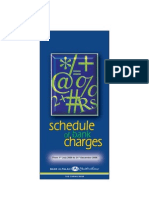schedule of charges
