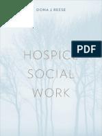 Hospice Social Work -- Dona J. Reese