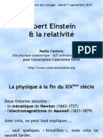 Conference Einstein Relativite vulgarisation