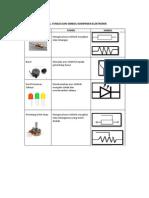 Nama, Fungsi dan Simbol Komponen Elektronik