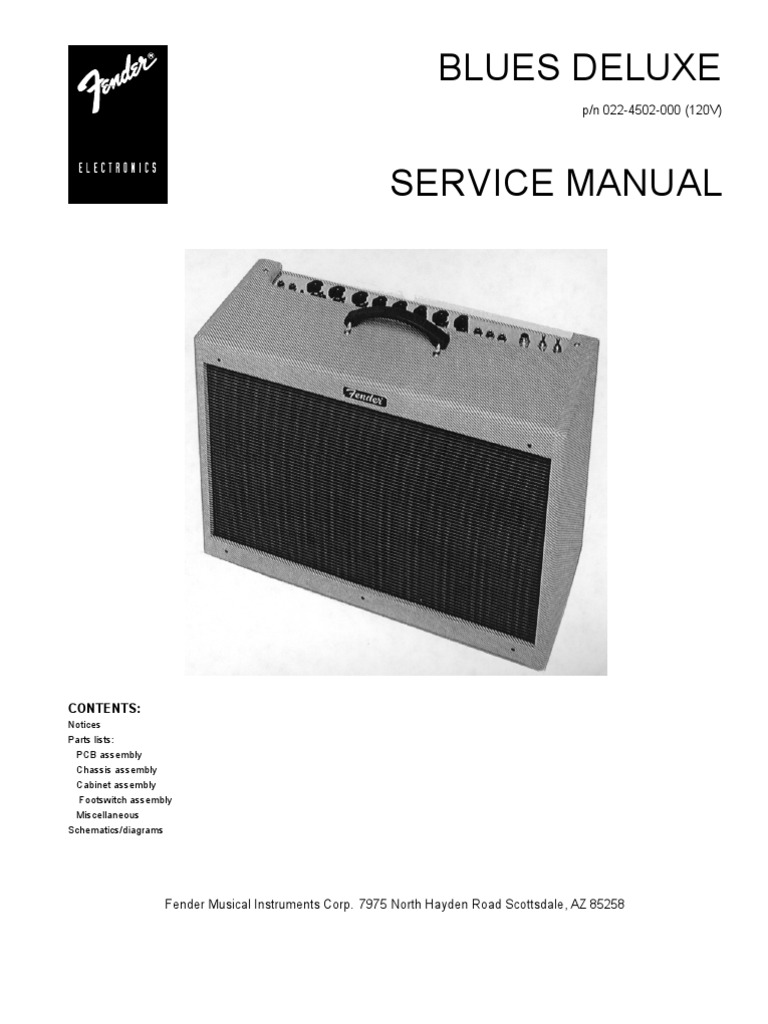 Guitar Fender Blues Deville Speaker Wiring Diagrams 12 Esquire Harness Deluxe Service Manual On String Electric Diagram