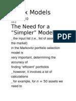 Index Models.