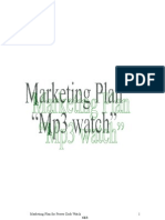 Marketing Plan of Mp3 Watch (Self made Product)