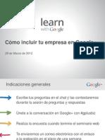 Cómo incluir tu empresa en Google+
