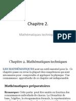 Chapitre 2- Techniques  mathématiques