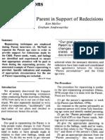 Re Parenting Parent Article
