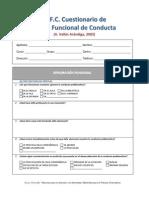 Cuestionario Analisis Funcional de Conducta