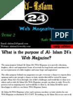 Al- Islam 24 Web Magazine Issue 2 Early Edition