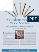 A Guide to Modern Wood Screws