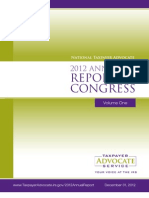 2012 Taxpayer Advocate Report to Congress - Volume 1