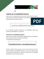 01 Metodologia I Analisis de Rentabilidad
