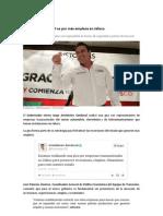 24-01-2012 Aristóteles Sandoval va por más empleos en Jalisco