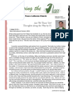 Peace Lutheran Church Feb. 2013 newsletter