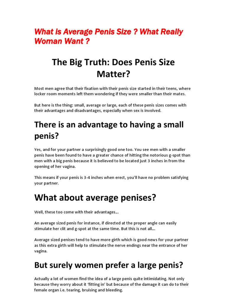 What Is Average Penis Size  What Really Woman Want Pdf -2672