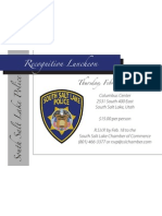 Police Awards Luncheon Invitation