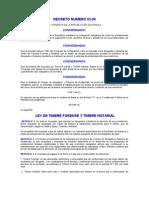 Ley de Timbre Forense y Notarial
