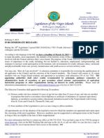 "VI Youth Advisory Council (Press Release) Senator Terrence ""Positive"" Nelson"