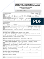 Ficha de dados do aluno- caracterização da turma