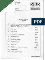 McAuthur Kirk Data Sheets