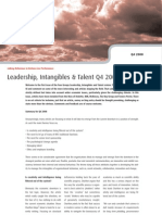 Leadership, Intangibles & Talent Q4 2008 - Four Groups