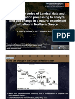 Achim Roeder - Using time series of Landsat data and geoinformation processing to analyze land use change in a natural experiment situation in Northern Greece.