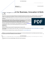 Response from Dept of Business Innovation and Skills