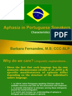 Aphasia in Portuguese Speakers by Fernandes