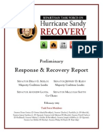 NYS Senate Bipartisan Task Force on Hurricane Sandy Recovery - Preliminary Report