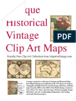Antique Historical Clip Art Maps
