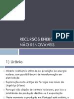 8 Recursos energéticos não renováveis