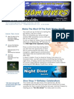Dream Divers February 2009 Newsletter