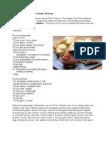 Recipe for Empanada with Smoky Tomato Chutney paired with Tilia Malbec
