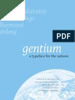 gentium font specification