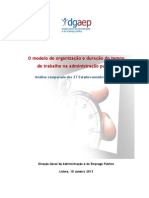 O Modelo de Organização e Duração do Tempo de Trabalho_27 Estados da UE