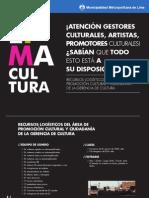 Gerencia de Cultura - Division de Promocion Cultural - Material Logistico
