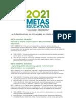 Metas Educativas Indicadores y Niveles de Logro