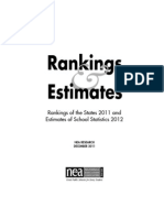 2011 State Rankings and 2012 Estimates of School Statistics from the NEA