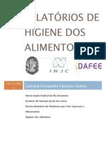 RELATÓRIOS DE HIGIENE DOS ALIMENTOS
