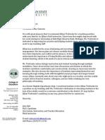 trebtoske letter of recommendation- julie bell