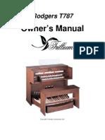 OrganManual Rodgers Model T787 Trillium Eng