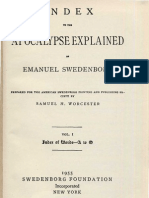 INDEX to the APOCALYPSE EXPLAINED of Emanuel Swedenborg, Volume 1, Words A to O, Samuel H. Worcester, Swedenborg Foundation, New York, 1955.