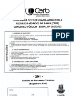 Prova Concurso CERB 2013-Eng. Civil