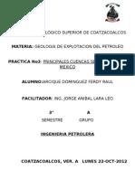 Cuencas Sedimentarias d Mexico
