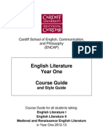 Cardiff English course guide