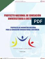 Normativa Educacion Universitaria a Distancia 2012